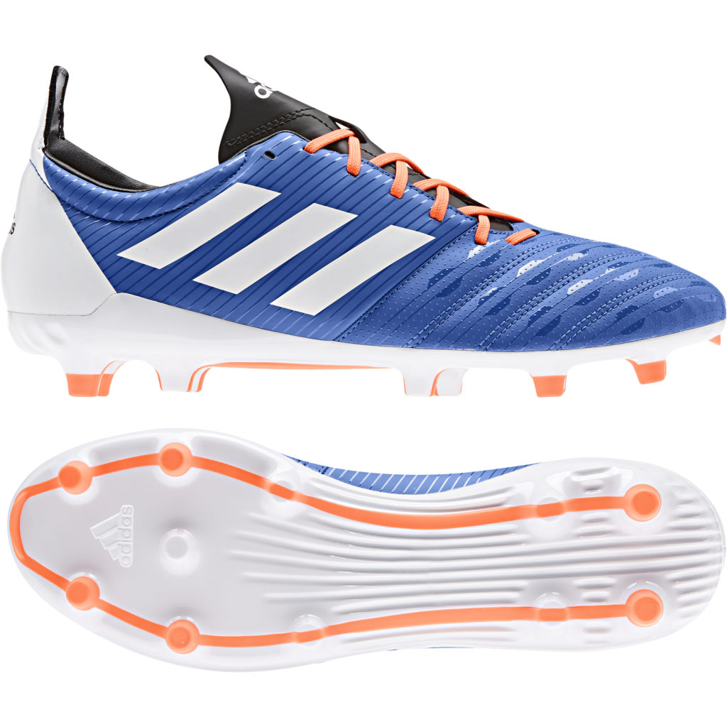 Chaussures Rugby Malice FG Bleu Blanc adidas